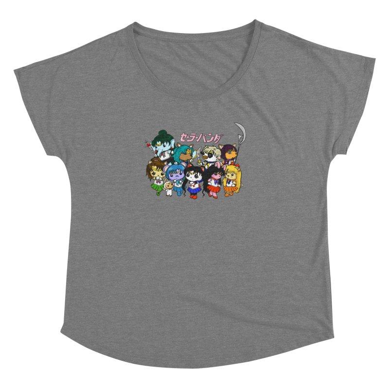 Sailor Panda and Friends Women's Dolman Scoop Neck by Dino & Panda Inc Artist Shop