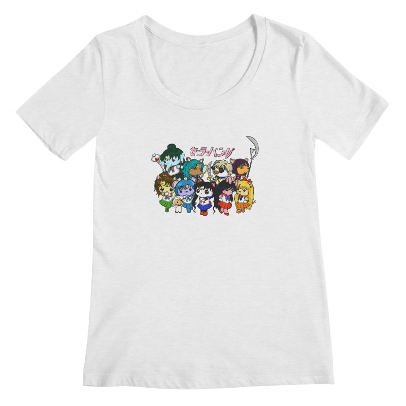 Sailor Panda and Friends Women's Regular Scoop Neck by Dino & Panda Inc Artist Shop