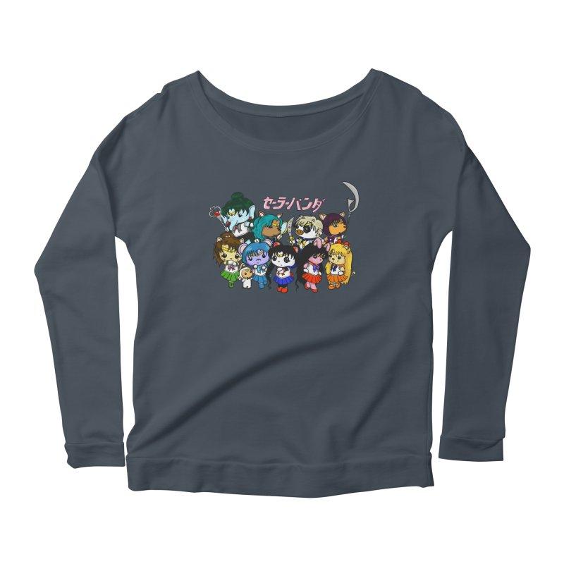 Sailor Panda and Friends Women's Scoop Neck Longsleeve T-Shirt by Dino & Panda Inc Artist Shop