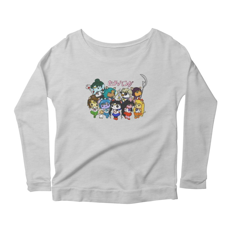 Sailor Panda and Friends Women's Scoop Neck Longsleeve T-Shirt by Dino & Panda Inc Artist Shop