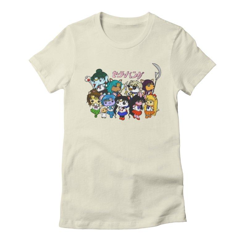 Sailor Panda and Friends Women's Fitted T-Shirt by Dino & Panda Inc Artist Shop
