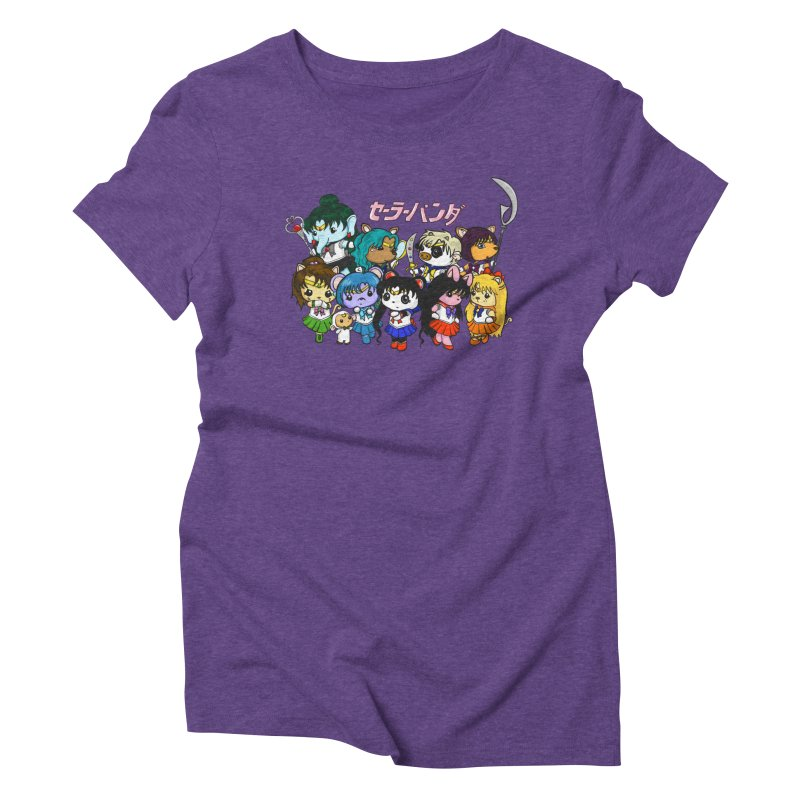 Sailor Panda and Friends Women's Triblend T-Shirt by Dino & Panda Inc Artist Shop
