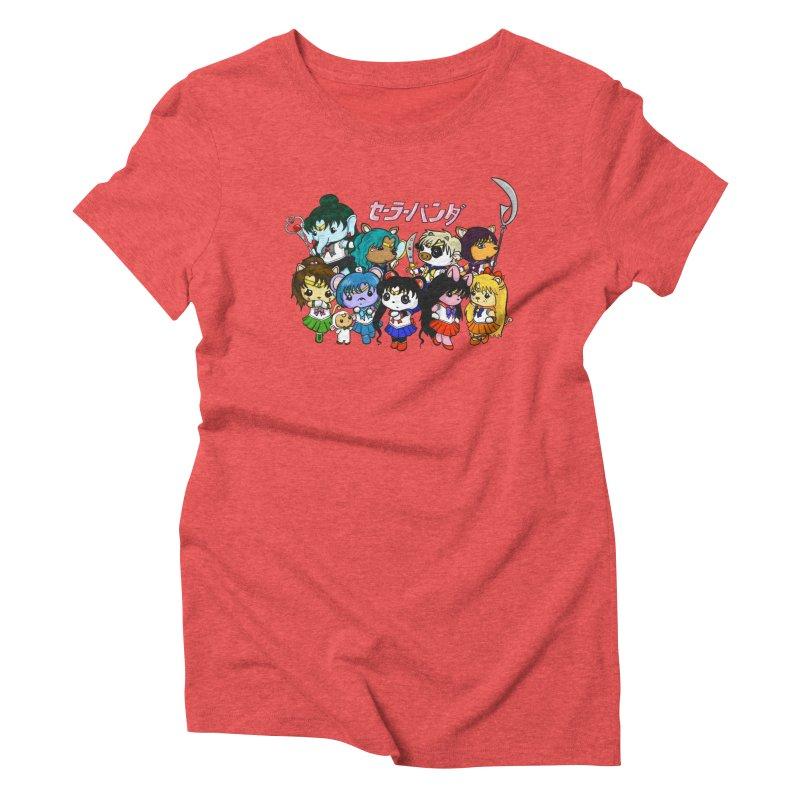 Sailor Panda and Friends Women's Triblend T-Shirt by Dino & Panda Inc Artist Shop
