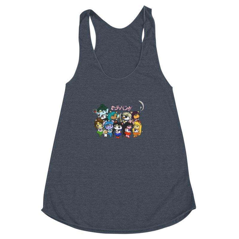 Sailor Panda and Friends Women's Racerback Triblend Tank by Dino & Panda Inc Artist Shop