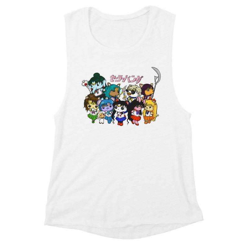 Sailor Panda and Friends Women's Muscle Tank by Dino & Panda Inc Artist Shop