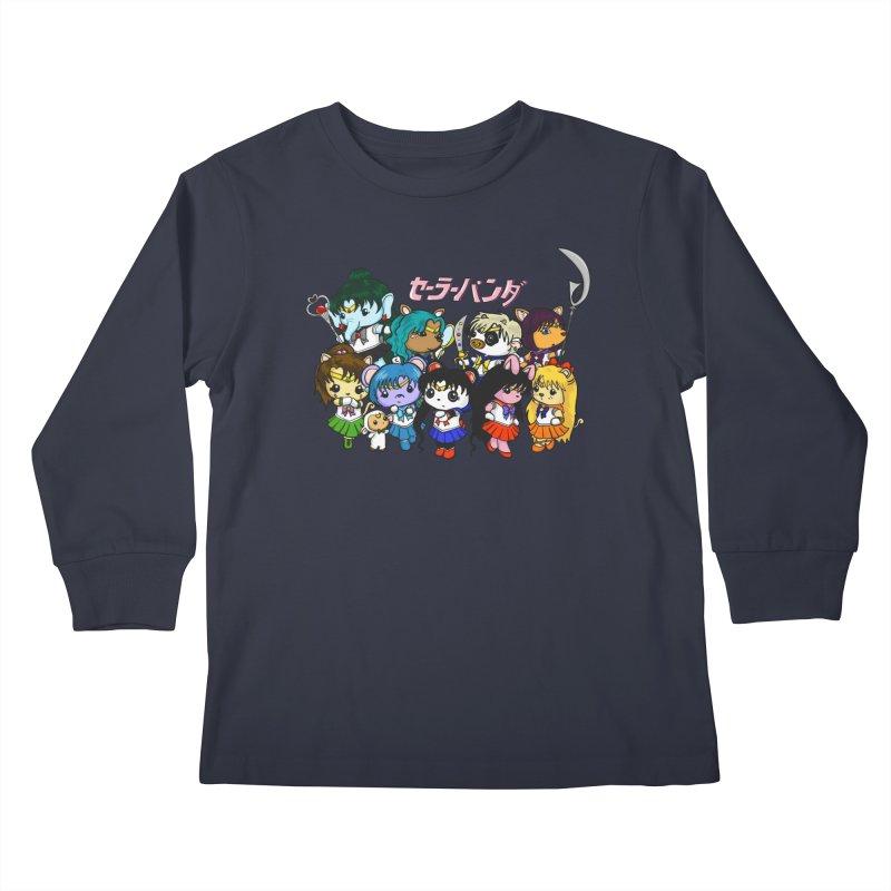 Sailor Panda and Friends Kids Longsleeve T-Shirt by Dino & Panda Inc Artist Shop