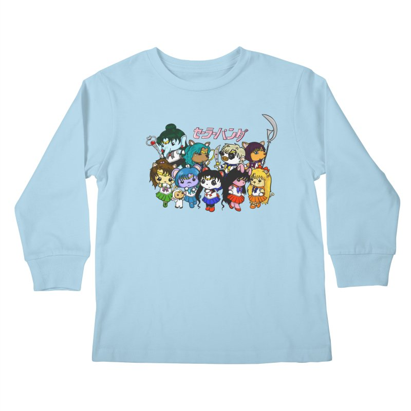 Sailor Panda and Friends Kids Longsleeve T-Shirt by Dino & Panda Inc Artist Shop