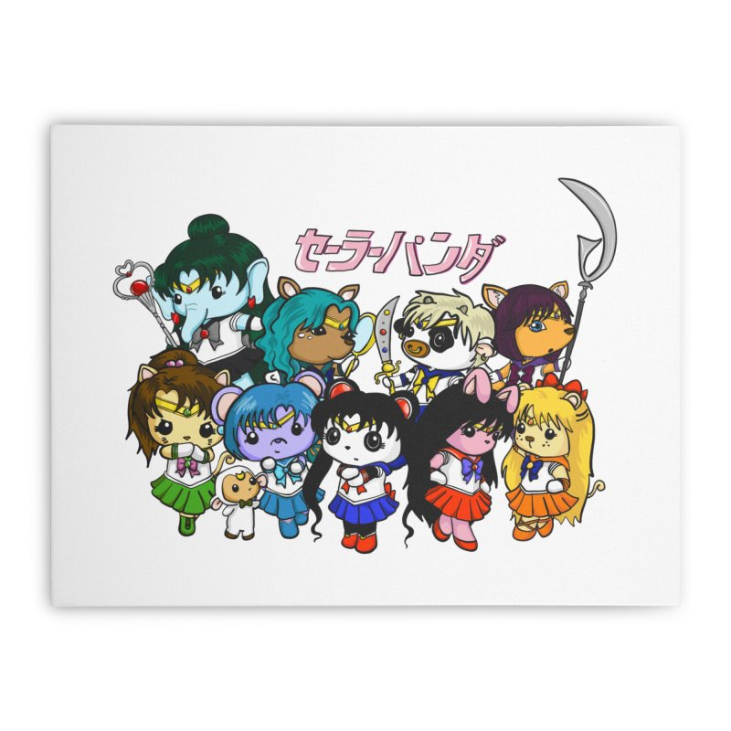 Sailor Panda and Friends Home Stretched Canvas by Dino & Panda Inc Artist Shop
