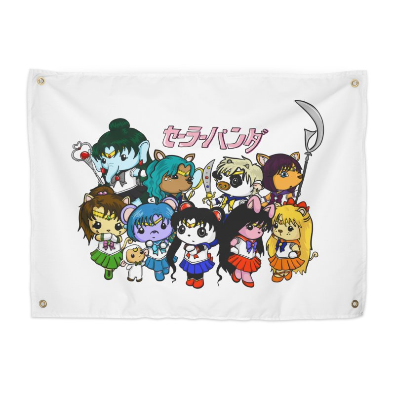 Sailor Panda and Friends Home Tapestry by Dino & Panda Inc Artist Shop