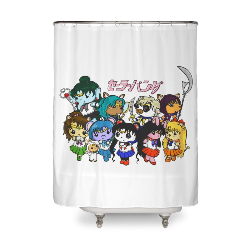 Sailor Panda and Friends Home Shower Curtain by Dino & Panda Inc Artist Shop