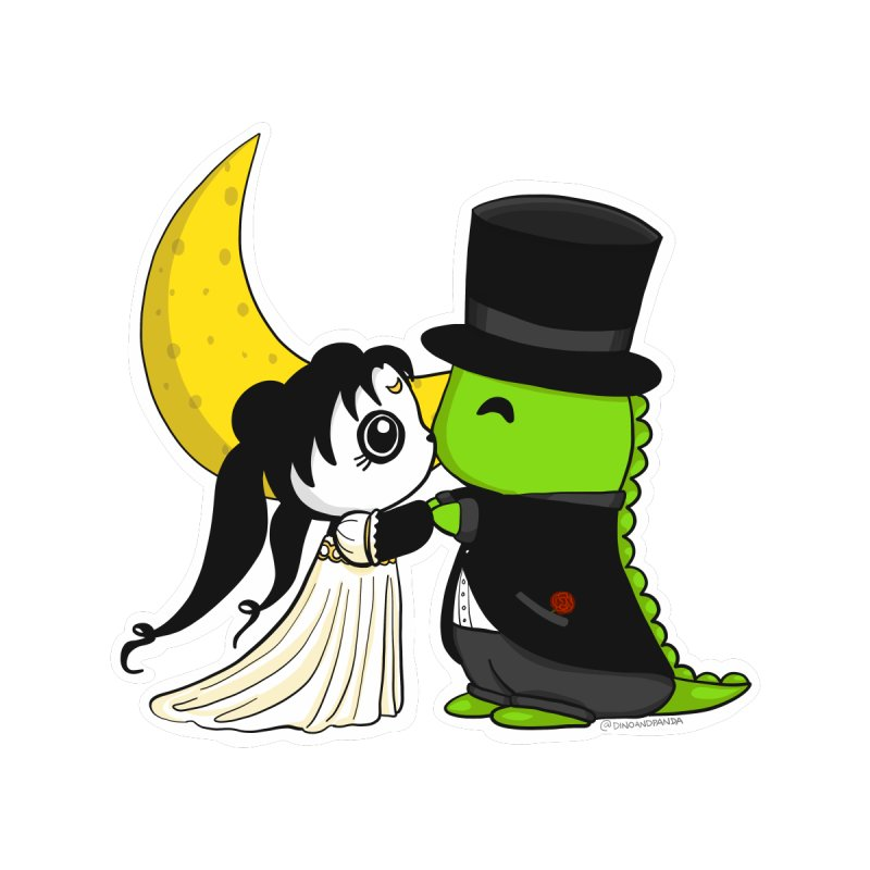 Princess Panda Serenity and Tuxedo Dino Women's T-Shirt by Dino & Panda Artist Shop