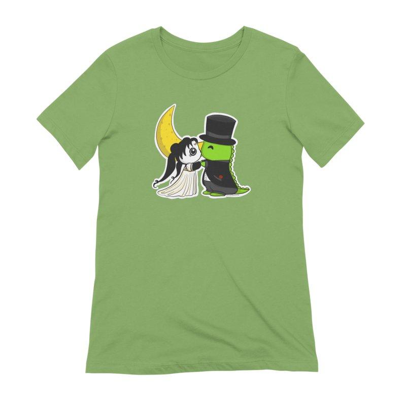 Princess Panda Serenity and Tuxedo Dino Women's Extra Soft T-Shirt by Dino & Panda Inc Artist Shop