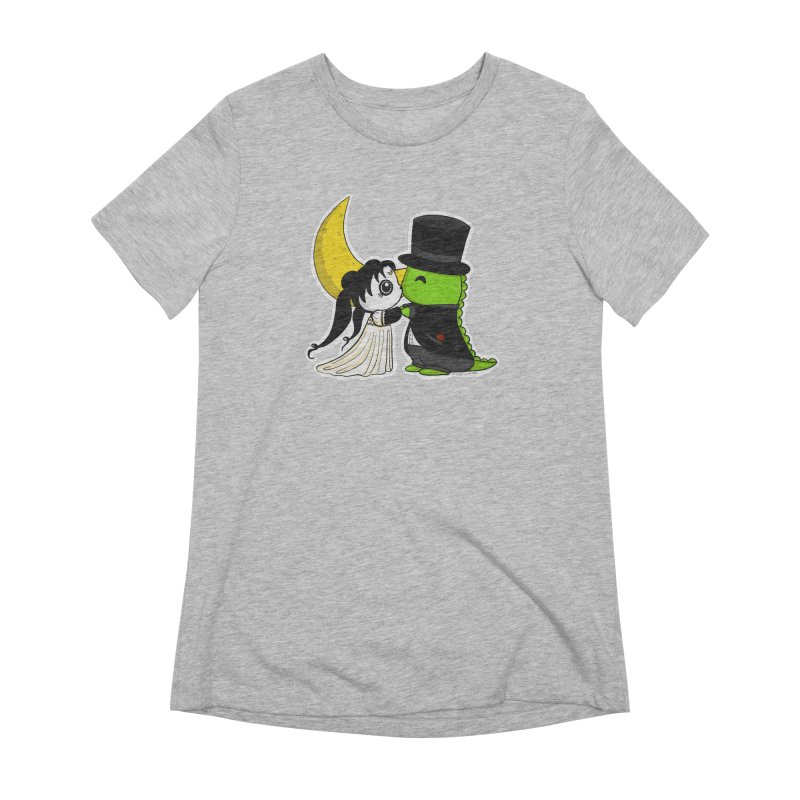 Princess Panda Serenity and Tuxedo Dino Women's Extra Soft T-Shirt by Dino & Panda Inc Artist Shop