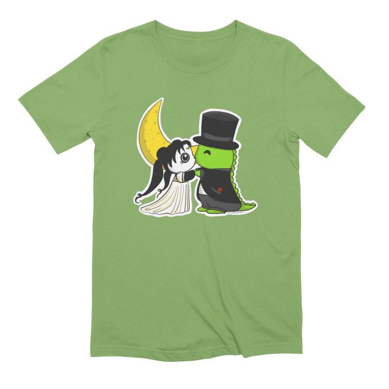 Princess Panda Serenity and Tuxedo Dino Men's Extra Soft T-Shirt by Dino & Panda Inc Artist Shop