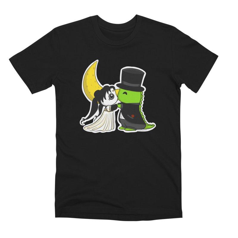 Princess Panda Serenity and Tuxedo Dino Men's Premium T-Shirt by Dino & Panda Inc Artist Shop