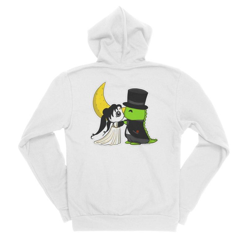 Princess Panda Serenity and Tuxedo Dino Men's Sponge Fleece Zip-Up Hoody by Dino & Panda Inc Artist Shop