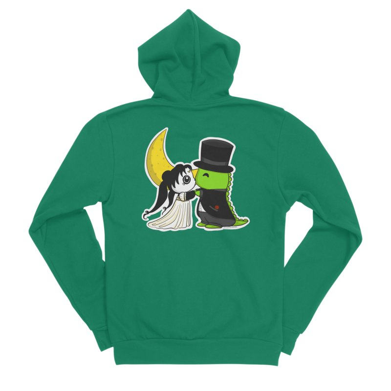 Princess Panda Serenity and Tuxedo Dino Women's Sponge Fleece Zip-Up Hoody by Dino & Panda Inc Artist Shop