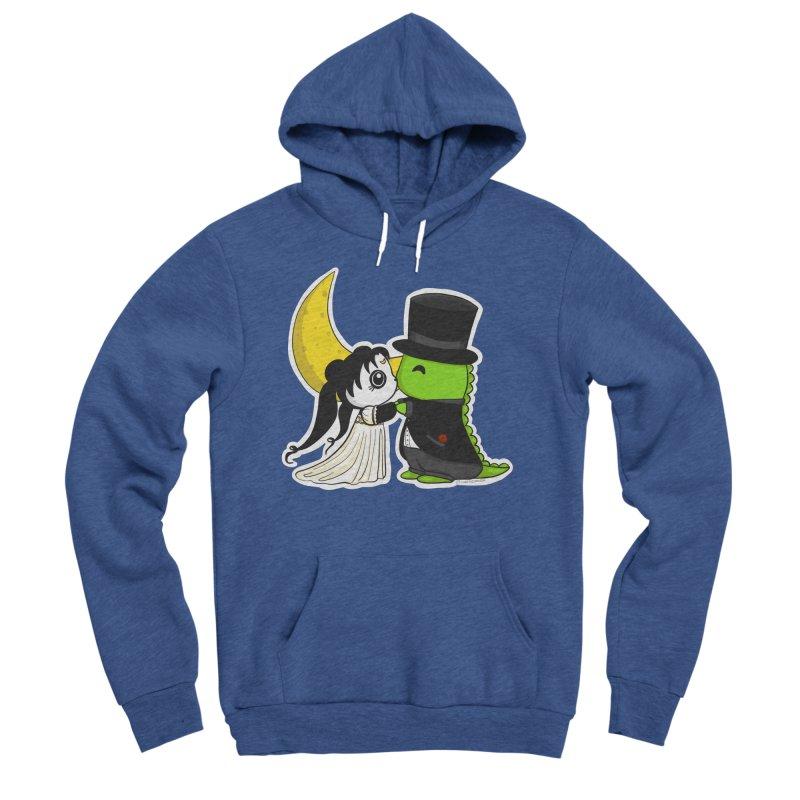 Princess Panda Serenity and Tuxedo Dino Men's Sponge Fleece Pullover Hoody by Dino & Panda Inc Artist Shop