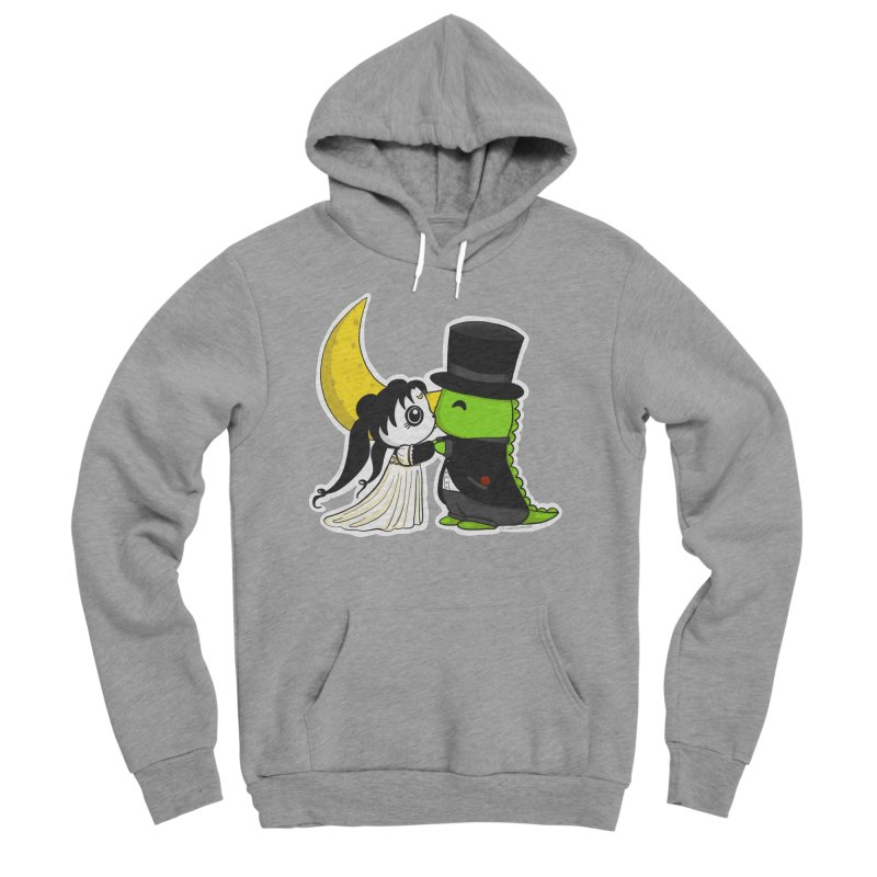 Princess Panda Serenity and Tuxedo Dino Men's Sponge Fleece Pullover Hoody by Dino & Panda Inc Artist Shop