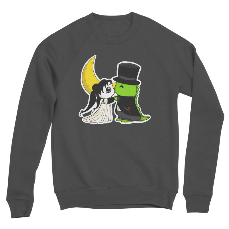 Princess Panda Serenity and Tuxedo Dino Men's Sponge Fleece Sweatshirt by Dino & Panda Inc Artist Shop