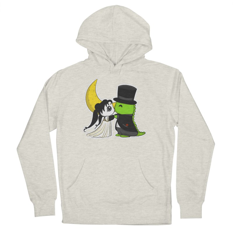 Princess Panda Serenity and Tuxedo Dino Men's French Terry Pullover Hoody by Dino & Panda Inc Artist Shop