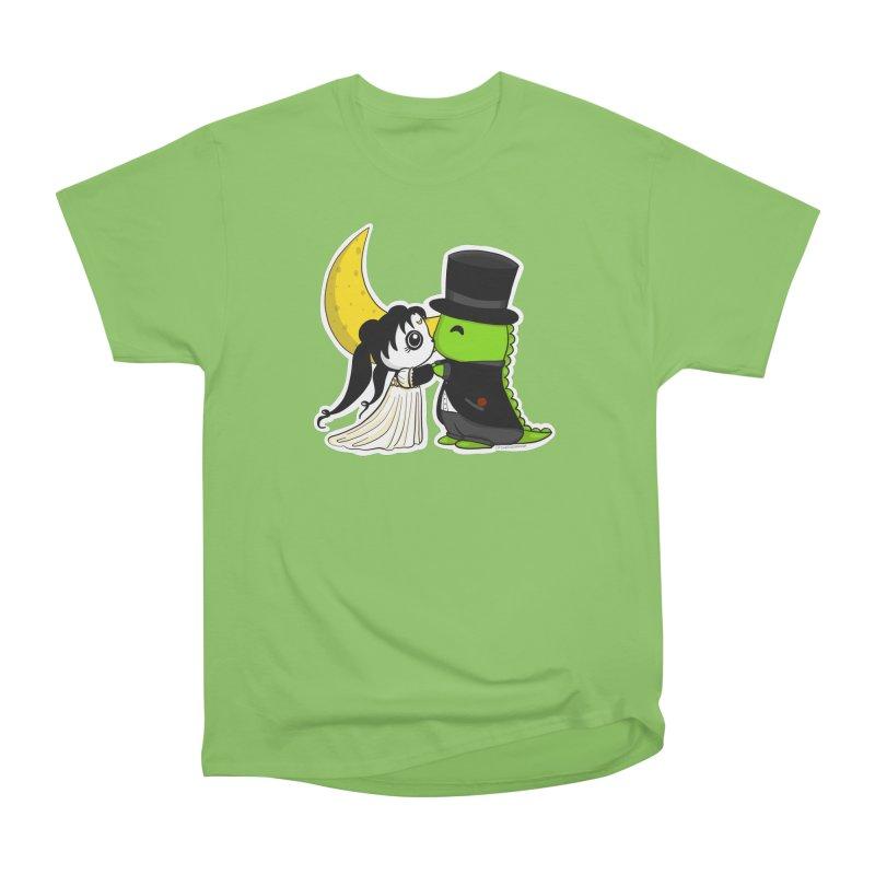 Princess Panda Serenity and Tuxedo Dino Women's Heavyweight Unisex T-Shirt by Dino & Panda Inc Artist Shop