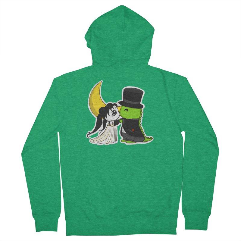 Princess Panda Serenity and Tuxedo Dino Women's Zip-Up Hoody by Dino & Panda Artist Shop