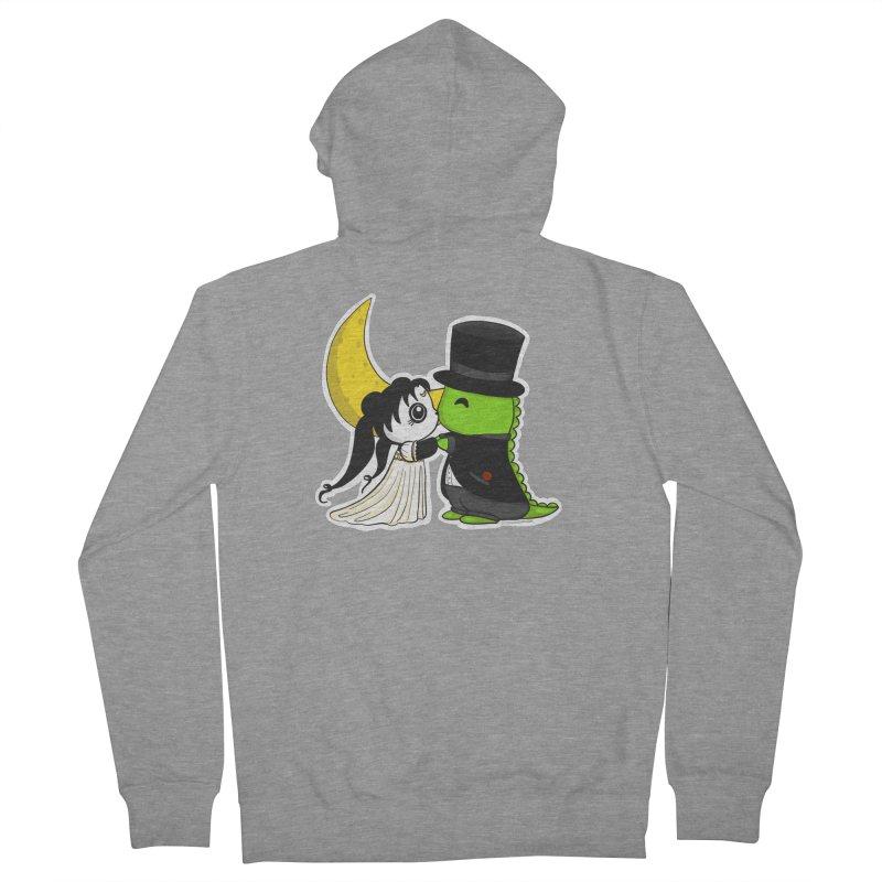 Princess Panda Serenity and Tuxedo Dino Men's French Terry Zip-Up Hoody by Dino & Panda Inc Artist Shop
