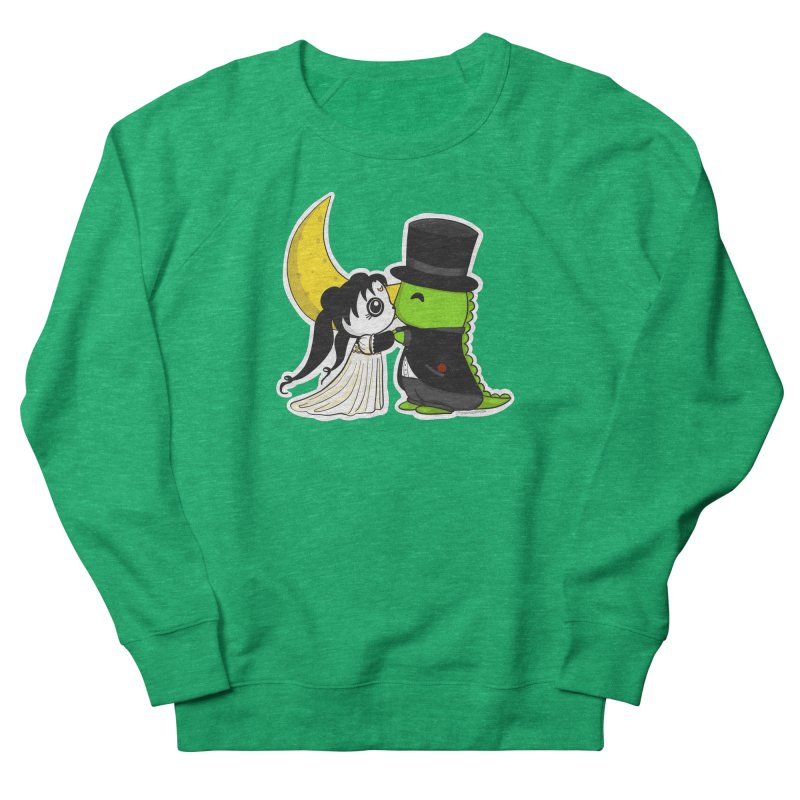 Princess Panda Serenity and Tuxedo Dino Women's French Terry Sweatshirt by Dino & Panda Inc Artist Shop