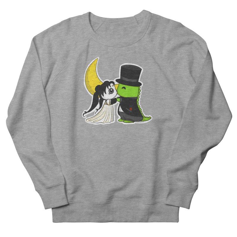 Princess Panda Serenity and Tuxedo Dino Women's French Terry Sweatshirt by Dino & Panda Inc Artist Shop