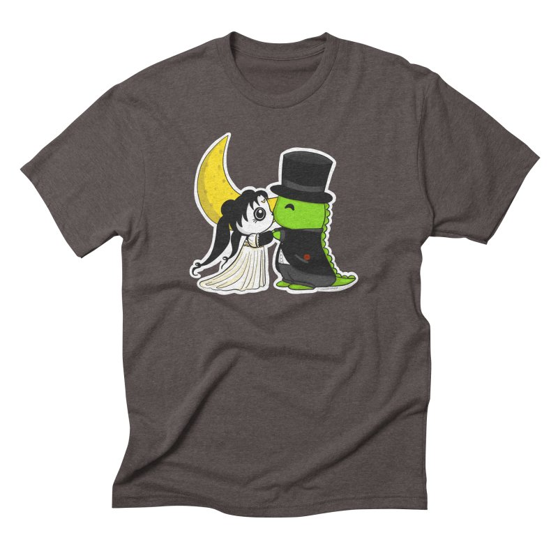 Princess Panda Serenity and Tuxedo Dino Men's Triblend T-Shirt by Dino & Panda Inc Artist Shop