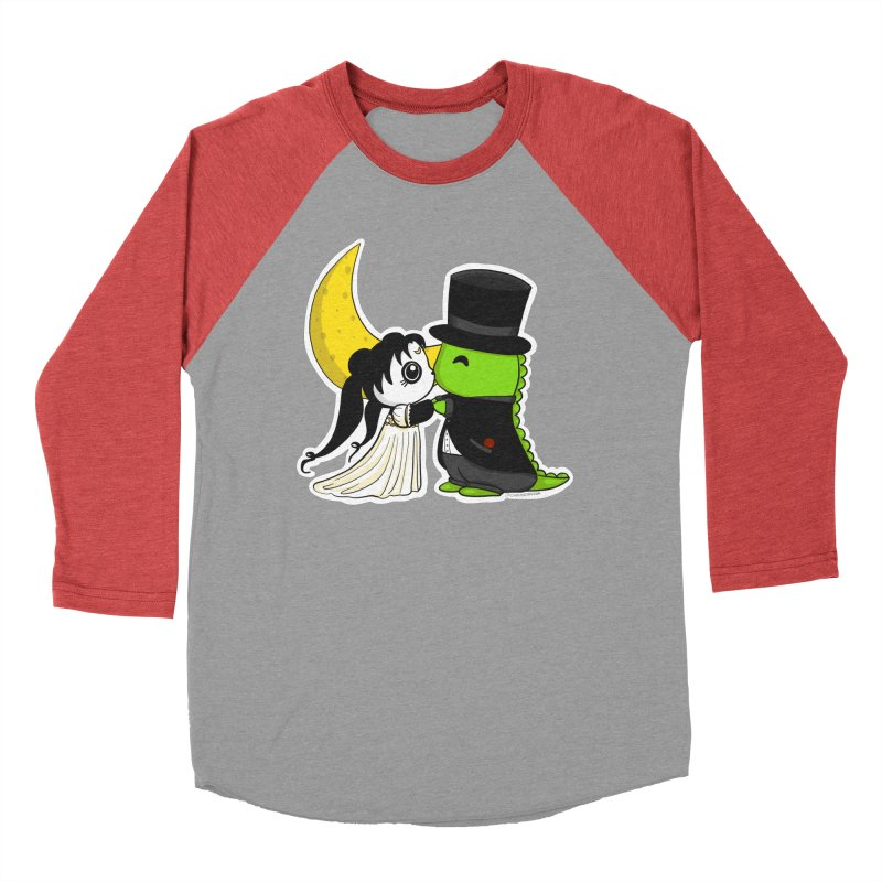 Princess Panda Serenity and Tuxedo Dino Women's Baseball Triblend Longsleeve T-Shirt by Dino & Panda Inc Artist Shop