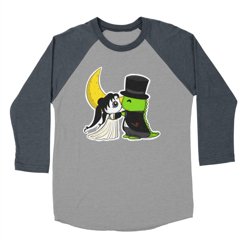 Princess Panda Serenity and Tuxedo Dino Women's Baseball Triblend Longsleeve T-Shirt by Dino & Panda Inc Artist Shop