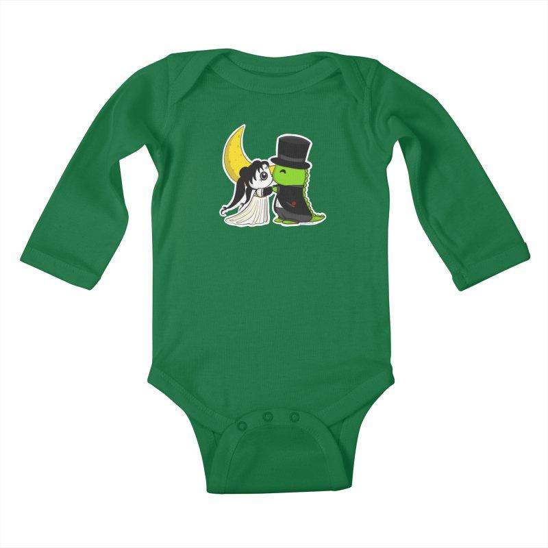 Princess Panda Serenity and Tuxedo Dino Kids Baby Longsleeve Bodysuit by Dino & Panda Inc Artist Shop