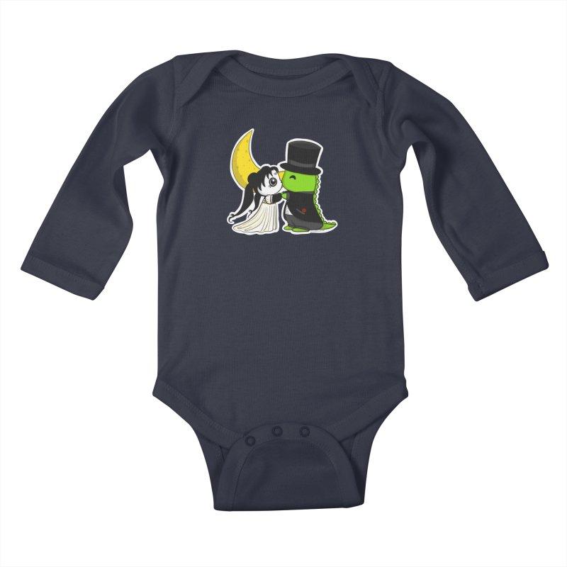 Princess Panda Serenity and Tuxedo Dino Kids Baby Longsleeve Bodysuit by Dino & Panda Artist Shop