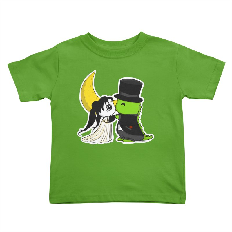 Princess Panda Serenity and Tuxedo Dino Kids Toddler T-Shirt by Dino & Panda Artist Shop