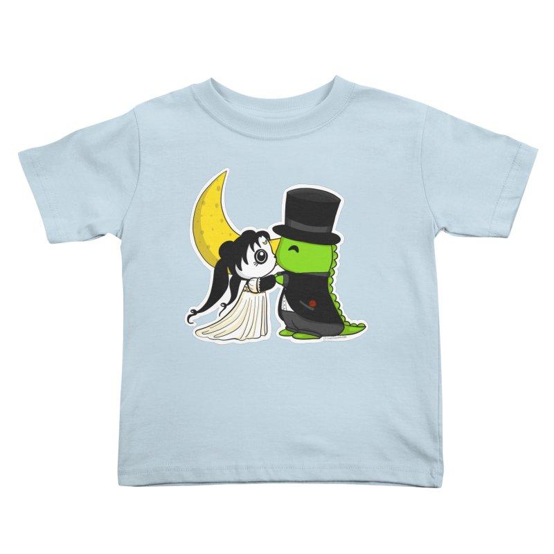 Princess Panda Serenity and Tuxedo Dino Kids Toddler T-Shirt by Dino & Panda Inc Artist Shop