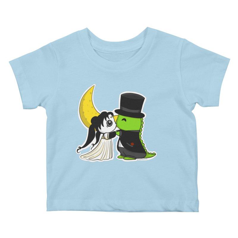 Princess Panda Serenity and Tuxedo Dino Kids Baby T-Shirt by Dino & Panda Inc Artist Shop