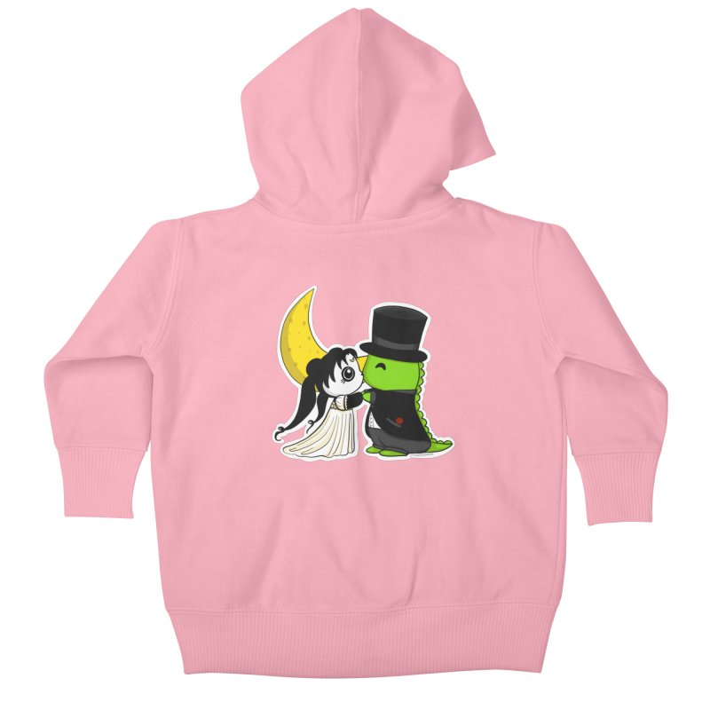 Princess Panda Serenity and Tuxedo Dino Kids Baby Zip-Up Hoody by Dino & Panda Inc Artist Shop