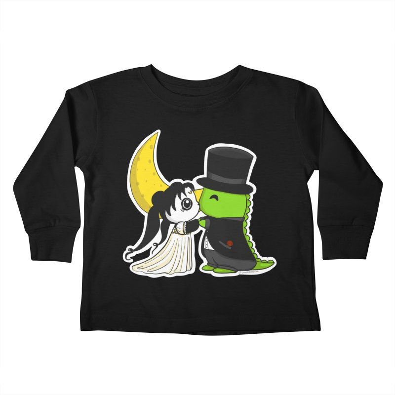 Princess Panda Serenity and Tuxedo Dino Kids Toddler Longsleeve T-Shirt by Dino & Panda Artist Shop