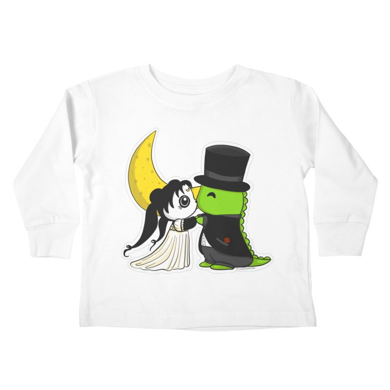 Princess Panda Serenity and Tuxedo Dino Kids Toddler Longsleeve T-Shirt by Dino & Panda Inc Artist Shop