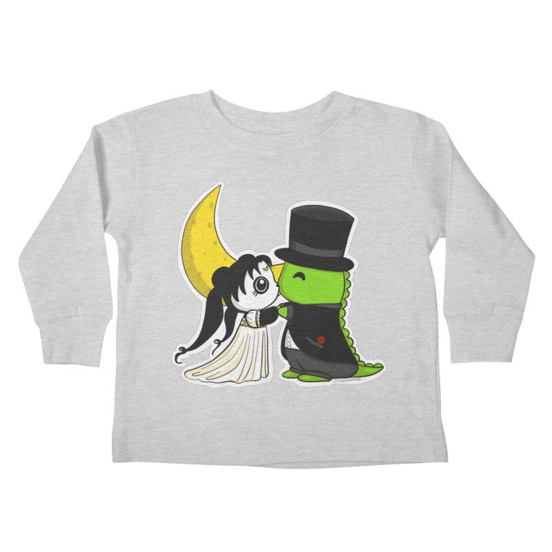 Princess Panda Serenity and Tuxedo Dino Kids Toddler Longsleeve T-Shirt by Dino & Panda Inc Artist Shop
