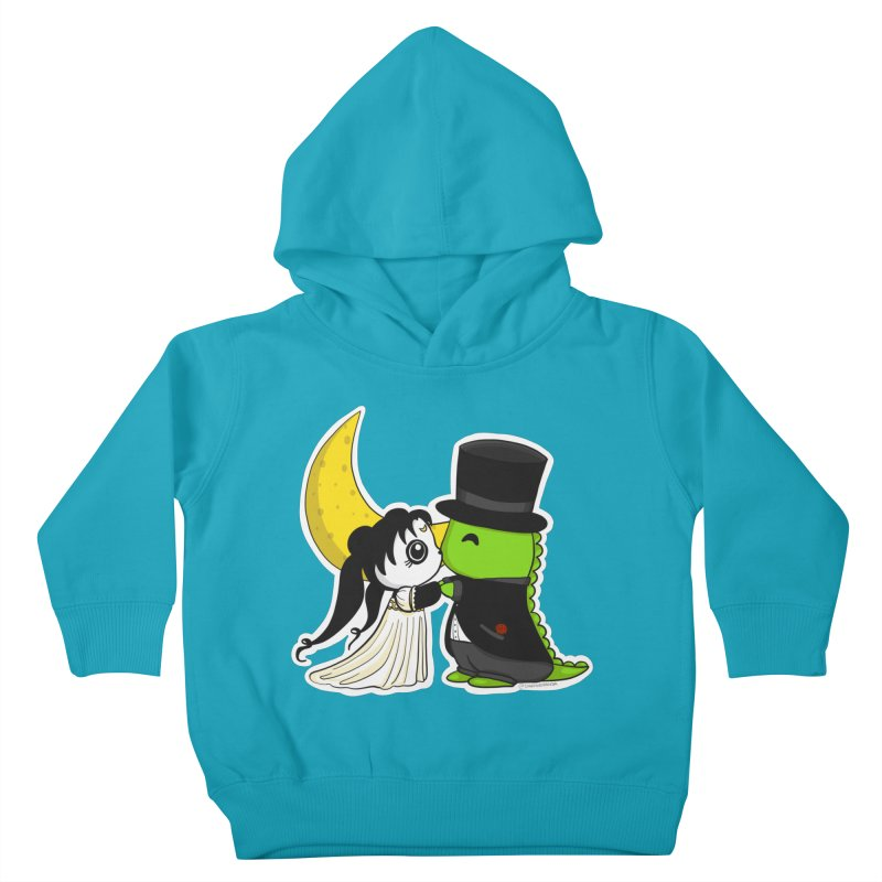 Princess Panda Serenity and Tuxedo Dino Kids Toddler Pullover Hoody by Dino & Panda Inc Artist Shop