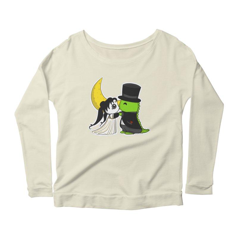 Princess Panda Serenity and Tuxedo Dino Women's Scoop Neck Longsleeve T-Shirt by Dino & Panda Inc Artist Shop
