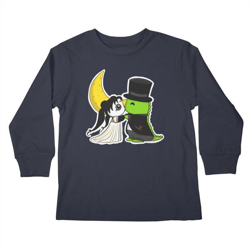 Princess Panda Serenity and Tuxedo Dino Kids Longsleeve T-Shirt by Dino & Panda Artist Shop