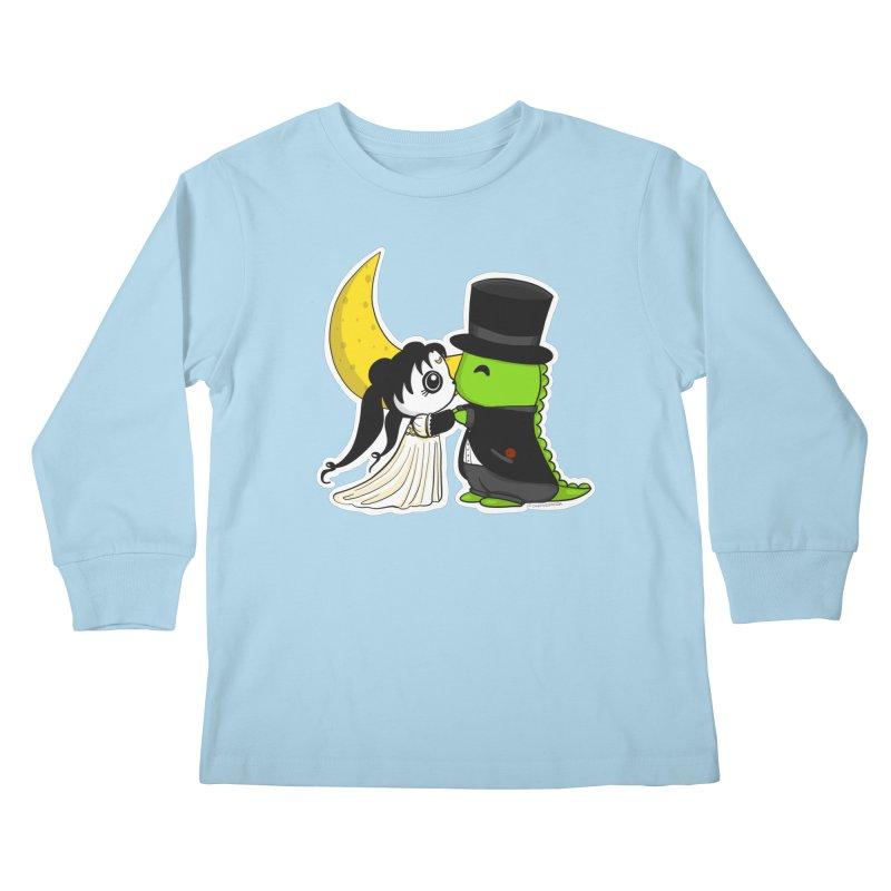 Princess Panda Serenity and Tuxedo Dino Kids Longsleeve T-Shirt by Dino & Panda Inc Artist Shop
