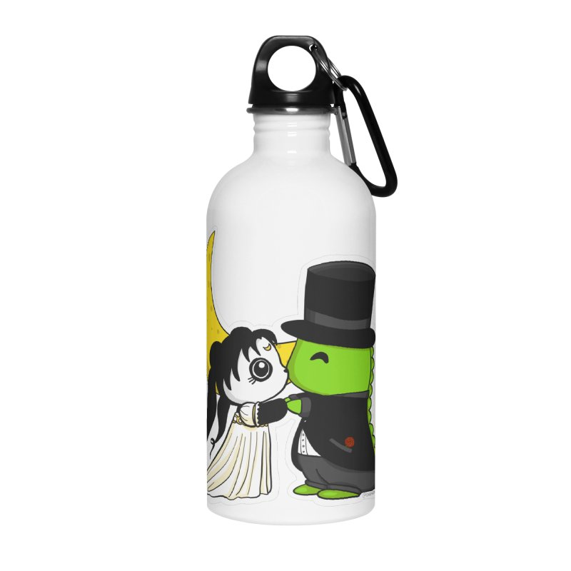 Princess Panda Serenity and Tuxedo Dino Accessories Water Bottle by Dino & Panda Inc Artist Shop
