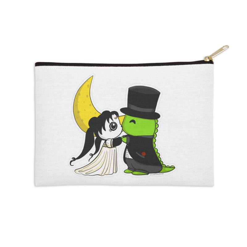 Princess Panda Serenity and Tuxedo Dino Accessories Zip Pouch by Dino & Panda Inc Artist Shop