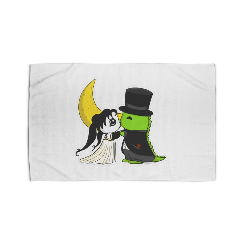 Princess Panda Serenity and Tuxedo Dino Home Rug by Dino & Panda Inc Artist Shop