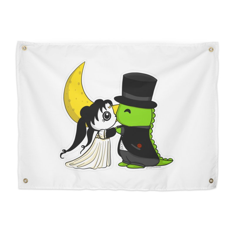 Princess Panda Serenity and Tuxedo Dino Home Tapestry by Dino & Panda Inc Artist Shop